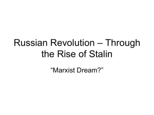 Russian Revolution – Through the Rise of Stalin