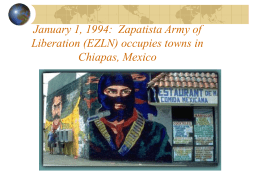 Zapatista Army of Liberation (EZLN) occupies towns in Chiapas