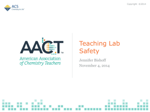 Keeping it safe: Chemical safety in the high school laboratory (2010)