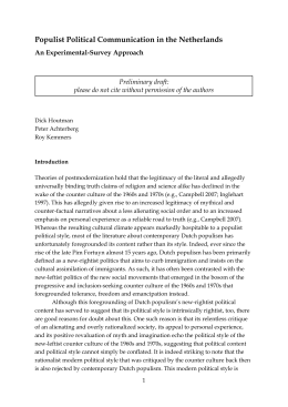 an introduction to the analysis of the populists and progressive Analysis with electoral data to derive a new theory of populist demand  introduction  in this view, populists are.