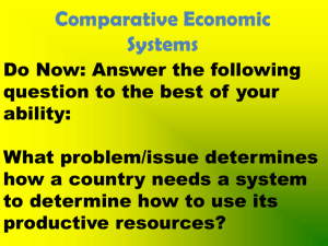 traditional economic system