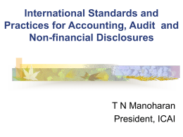 Indian Perspective on IFRS