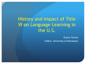 History and Impacts of Title VI on Language Proficiency in the U.S.