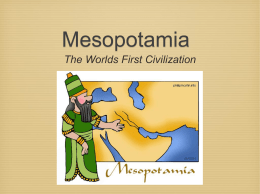Mesopotamia PowerPoint Notes