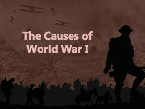 01 Causes of WWI