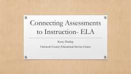 Connecting Assessments to Instruction