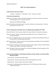 AMST 345 Comps Reading List