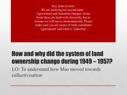 15. Land Reform and Collectivisation