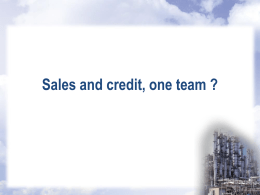 Sales and Credit - One Team: Myth or Reality?