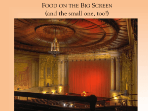 Food on the Big Screen - Vanderbilt University