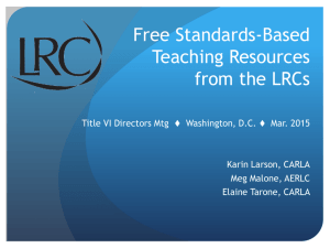 Free Standards-Based Teaching Resources from the LRCs