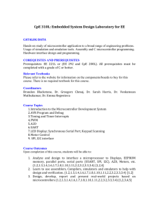 CPE310L - Embedded System Design Laboratory for EE