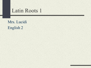 Latin Roots 1