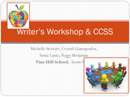Writers Workshop - Santa Cruz County Office of Education