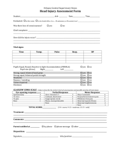 Head Injury Assessment Form - Orleans Central Supervisory Union