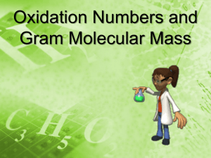 Day 49 Oxidation Numbers & Gram Molecular Mass