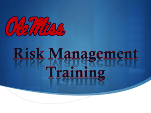 Ole Miss Risk Management Fall 2013