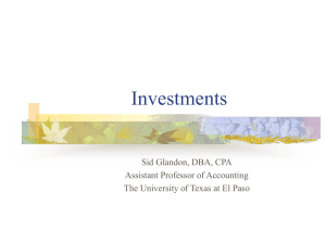Investments - University of Texas at El Paso