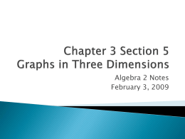 3.5 Graphs in 3D