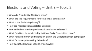 Elections and Voting * Unit 3 * Topic 2