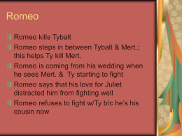 How do the montagues and capulets react to loss in romeo and juliet essay