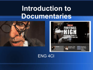 Introduction to Documentaries Powerpoint