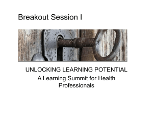 100614 Breakout Session 1 Power Point