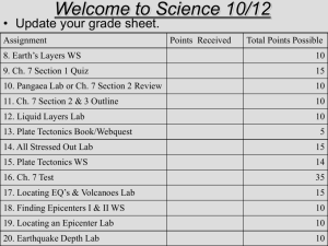 Welcome to Science 10/12
