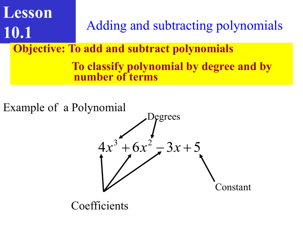 Worksheets Classifying Polynomials Worksheet classifying polynomials by degree