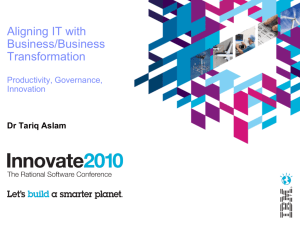 IBM Innovate 2010 Session Track Template