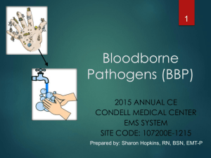 Bloodborne Pathogens - Advocate Health Care