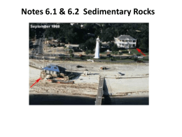 Three Types of sediment formation