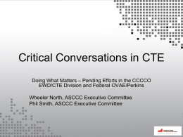 Critical Conversations in CTE