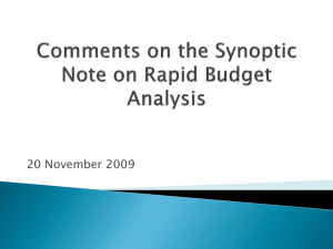 Comments-Synoptic Note RBA