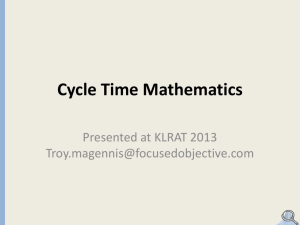 Cycle Time Mathematics