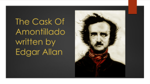 The Cask Of Amontillado written by Edgar Allan