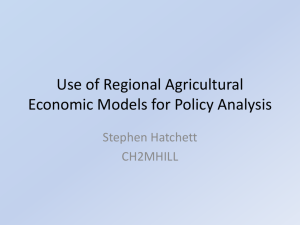Use of regional agricultural models