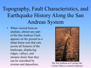 The San Andreas Fault System Lecture Notes Page