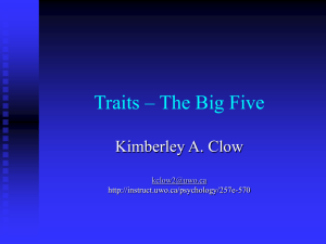 Traits – The Big Five
