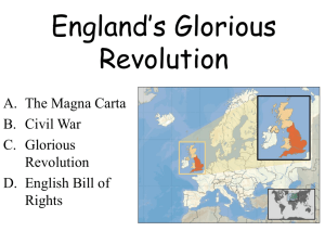 England's Glorious Revolution