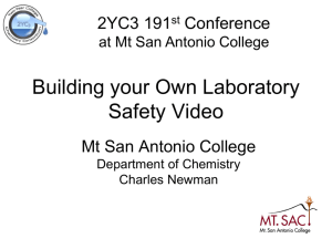 Building your Own Laboratory Safety Video