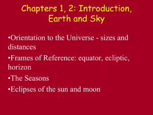 Earth and Sky, Seasons, Eclipses