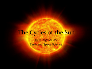 The Cycles of the Sun