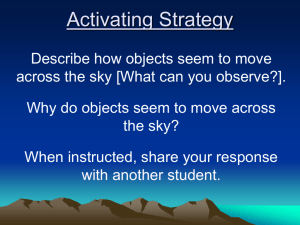Movement of Objects Across the Sky ppt