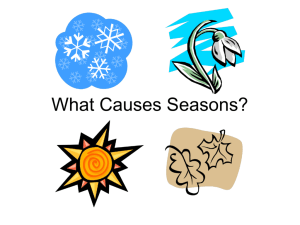 WhatCausesSeasons.ppt