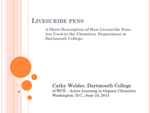 Livescribe Pens at Dartmouth