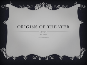 Origins Of Theater