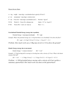 Physics Review Sheet