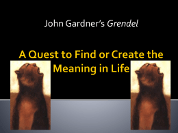 an analysis of the point of view in grendel a novel by john gardner This afternoon, i start grendel, john gardner's 1971 novel telling the story of beowulf's first great opponent from the monster's point of view the version i've got is identical to the.