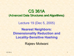 CS 361A (Advanced Algorithms)